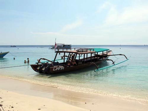 two traditional indonesian boats
