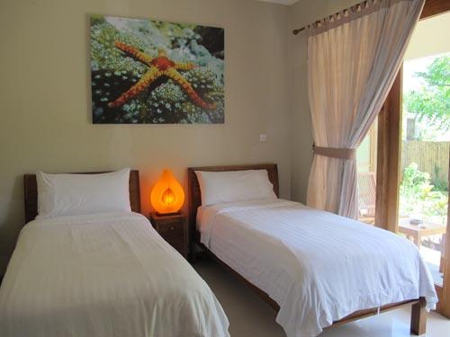 Twin Rooms overlooking tropical gardens