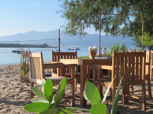 On site beach side restaurant