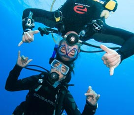 Image of divers undewater
