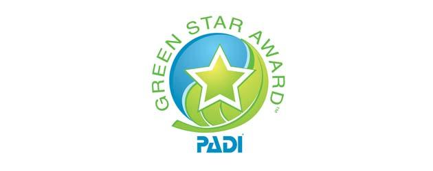 PADI green star award logo