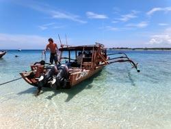 Liana boat on Gili Trawangan