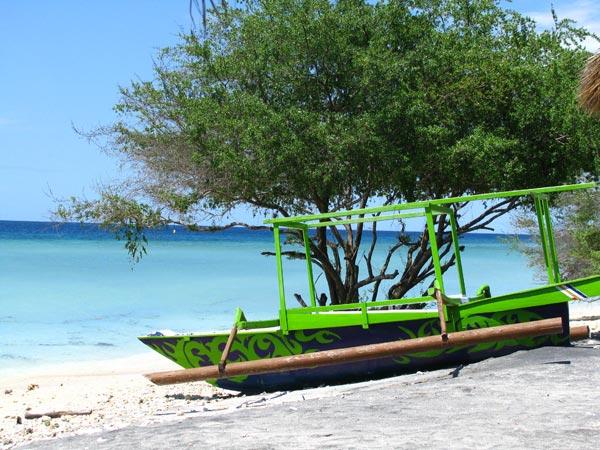 Fishing boat on Gili Trawangan