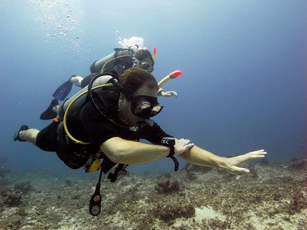 Teaching PADI Underwater Navigation