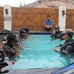 Conducting Discover Scuba Diving courses with our local staff at Trawangan Dive