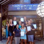 Successful IDC candidates after their PADI Instructor Examination.