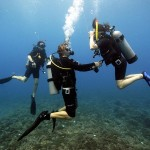 Mastering mask clearing on PADI Open Water Diver course