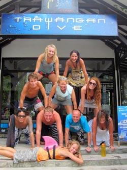 Divemaster trainees at Trawangan Dive
