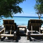 Sun loungers on Gili Trawangan
