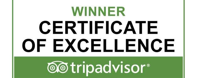 TripAdvisor Certificate of Excellence for Trawangan Dive, PADI 5 star IDC Resort