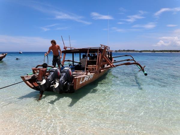 Trawangan Dive, PADI 5 star IDC Resort, has two lovely dive boats.
