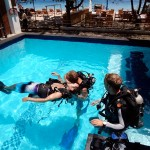 Instructor Philip teaching a PADI Rescue course