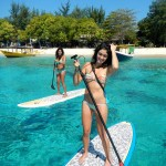 Paddleboards on Gil Trawangan, Lombok, Indonesia