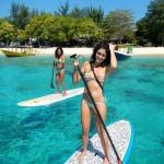 Paddleboards on Gil Trawangan, Lombok, Indonesia