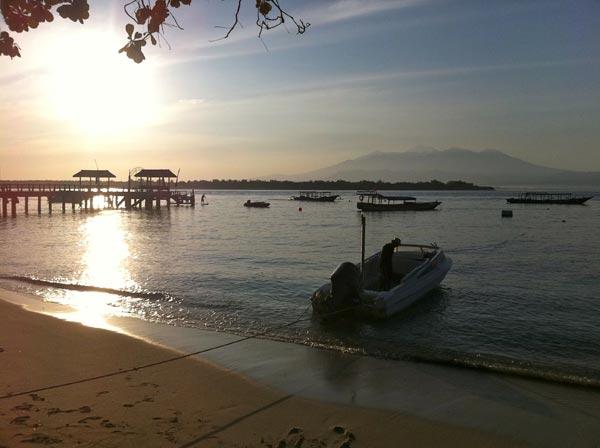 Sunrise over Mount Rinjani