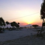 Beautiful sunsets are common place on the Gili islands