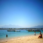 One of the beautiful beaches on Gili Trawangan