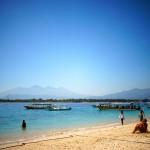 One of the beautiful beaches on Gili Trawangan