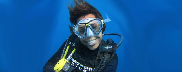 Nina, a new PADI Divemaster at Trawangan Dive